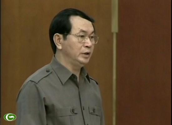 Bộ trưởng Trần Đại Quang trình đề án tại buổi họp